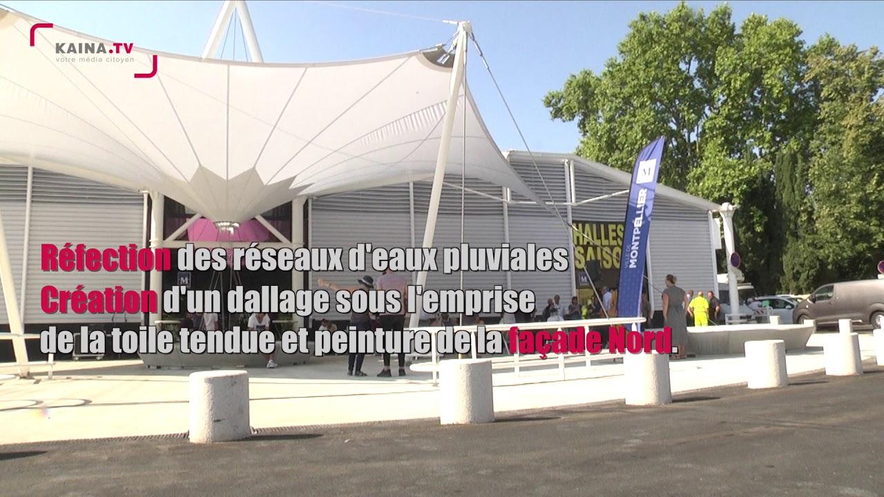 Montpellier, La Paillade : Fin des travaux d'aménagements des Halles des Quatre Saisons