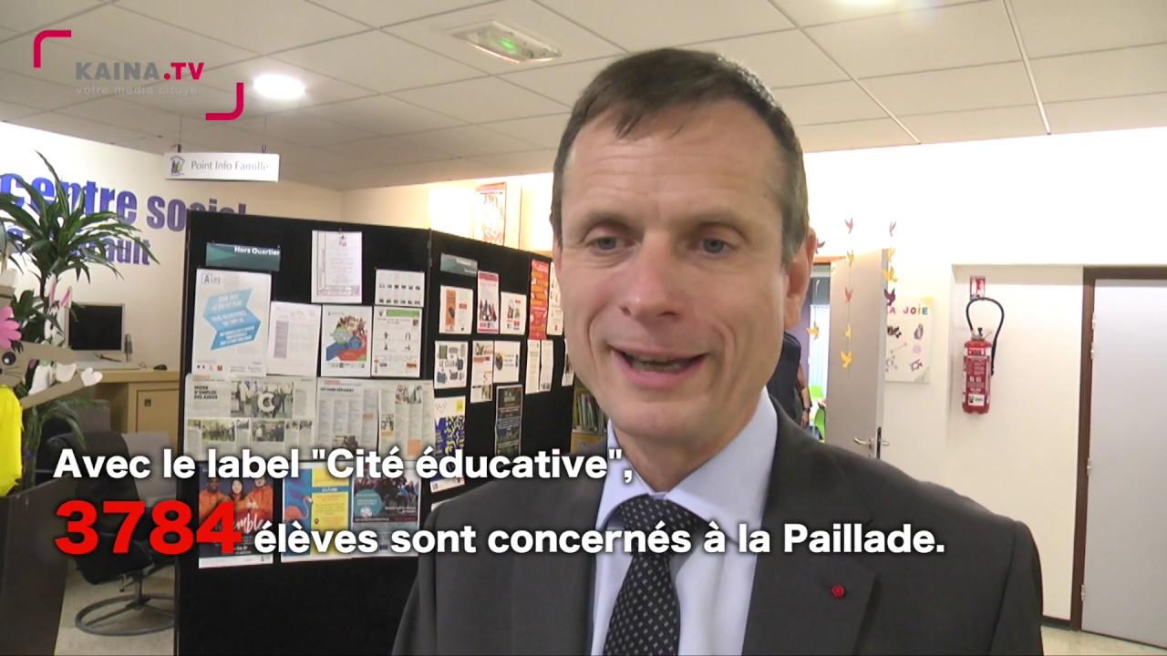 La Paillade : première visite du quartier pour Jacques Witkowski, le nouveau préfet de l'Hérault