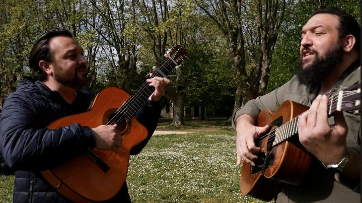 "José et Luis : ""La culture, c'est la nourriture de l'âme"". Photo/Jean-Fabrice TIOUCAGNA"
